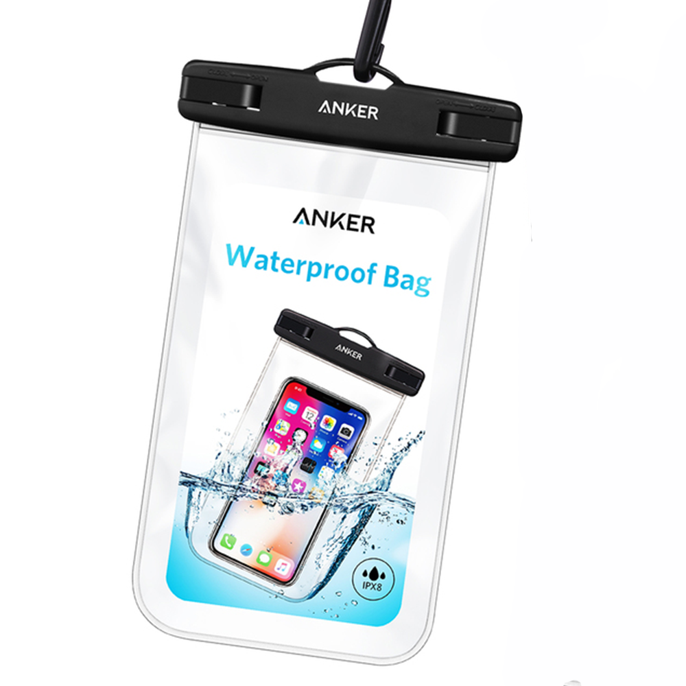 new product e5e31 bb207 Anker Universal Waterproof Case, IPX8 Waterproof Phone Pouch Dry Bag, up to  6 Inches
