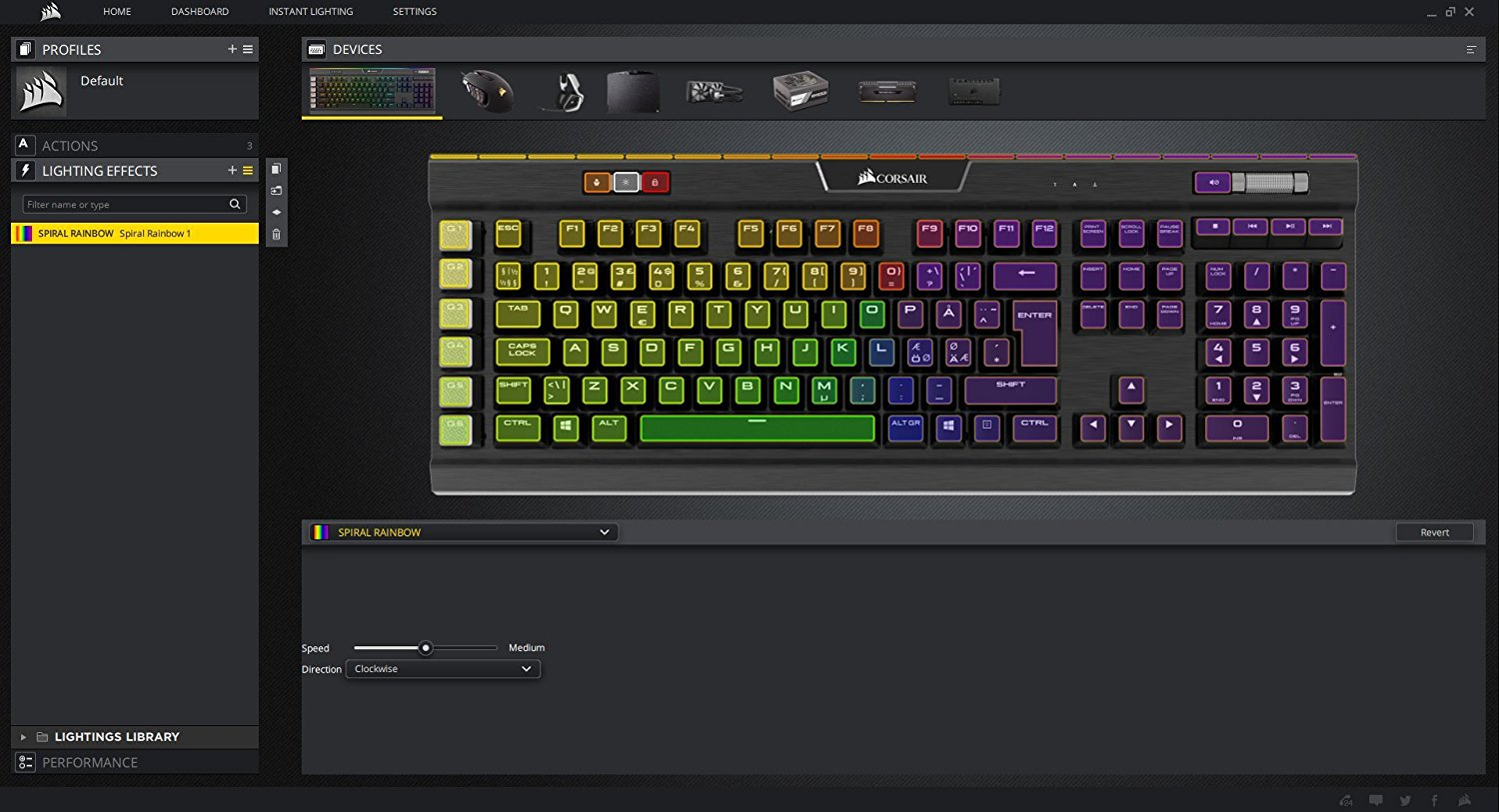 Corsair K70 LUX RGB Mechanical Gaming Keyboard - Linear & Quiet - Cherry MX  Red - RGB LED Backlit